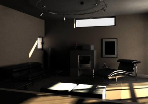 imagen Tri dimensional escena en un living  i, en Mesas y juegos de comedor 3d - Muebles equipamiento
