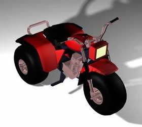 Triciclo 3d, en Motos y bicicletas – Medios de transporte
