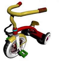 Planos de Triciclo en 3d, en Motos y bicicletas – Medios de transporte