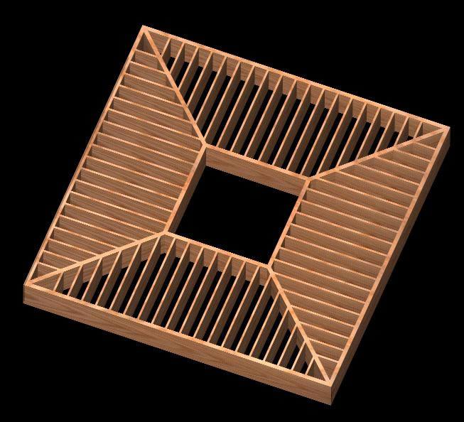 Planos de Trilage de madera 3d, en Muebles varios – Muebles equipamiento