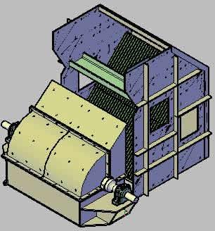 Planos de Trituradora de martillos para planta cementera 3d, en Industria minera – Máquinas instalaciones