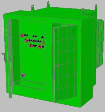 imagen Trnasformador tipo padmounted 1000 kva, en Fuerza motriz - Electricidad iluminación