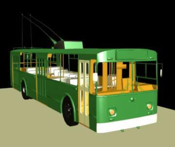 Trolebus 3d, en Camiones – Medios de transporte