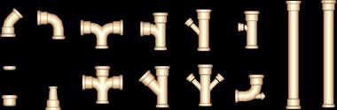 Planos de Tuberia de drenaje en 3 dimensiones, en Instalaciones cloacales y pluviales – Instalaciones