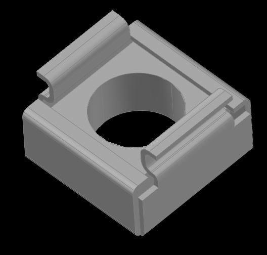 imagen Tuerca con cazoleta m6 3d, en Roscas normalizadas - Máquinas instalaciones
