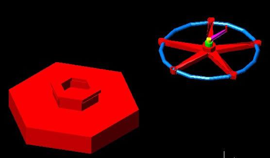 imagen Tuerca y torniquete 3d, en Válvulas tubos y piezas - Máquinas instalaciones