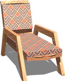 imagen Tumbona exteriores, en Sillas 3d - Muebles equipamiento