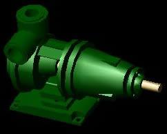 Planos de Turbina tipo sentinel 3d, en Equipos de bombeo – Máquinas instalaciones