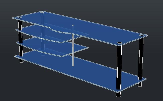 Planos de Tv mesa, en Mesas y juegos de comedor 3d – Muebles equipamiento