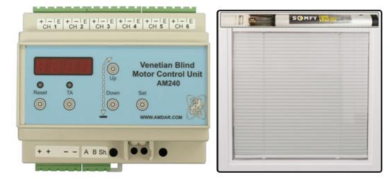 Unidad de control motorizado de cortinas venecianas, en Unidad de control – Aberturas