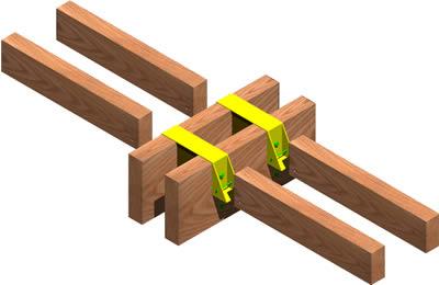 imagen Union viguetas-viga en estructura de madera 3, en De madera - Detalles constructivos