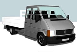 imagen Utilitario doble cabina 3d, en Utilitarios - Medios de transporte