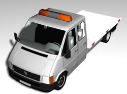 imagen Utilitario doble cabina, en Utilitarios - Medios de transporte