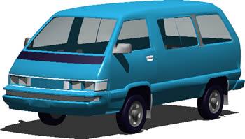Planos de Utilitario en 3d – tipo van, en Utilitarios – Medios de transporte