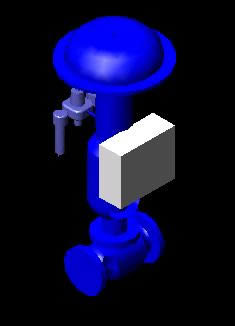 Planos de Valbula de registro  3d, en Provisión de gas – Instalaciones