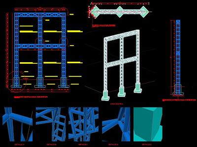 Planos de Valla 3d estructura y detalles, en Cartelería y publicidad – Equipamiento urbano