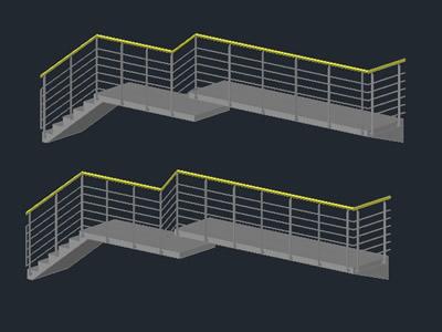Planos de Valla 3d / valla / para terraza, en Modelos de escaleras 3d – Escaleras
