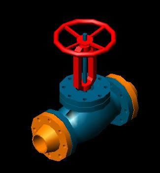 Planos de Valvula 4 pulg compuerta 600 lbs, en Provisión de gas – Instalaciones