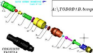 Planos de Valvula de seguridad, en Válvulas tubos y piezas – Máquinas instalaciones