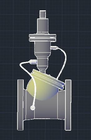 Planos de Válvula para golpe de ariete, en Tubos y elementos de pvc – ppn – fofo – etc – Sanitarios