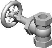 Planos de Valvulas de globo 3d, en Instalaciones contra incendios – Instalaciones