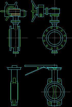 Planos de Valvulas mariposa elevacion, en Equipos de bombeo – Máquinas instalaciones