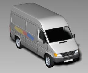 imagen Van 3d materiales aplicados, en Utilitarios - Medios de transporte