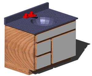 imagen Vanitory en 3d, en Baños - Muebles equipamiento