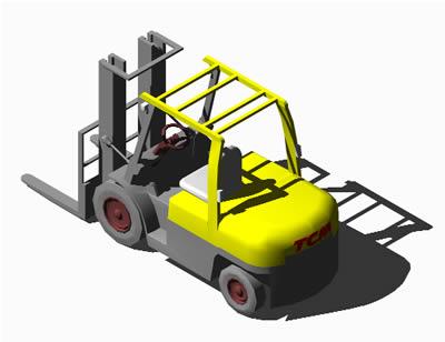 imagen Vehiculo cargador - forklift-3d, en Utilitarios - Medios de transporte