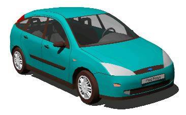Planos de Vehiculo ford focus, en Automóviles en 3d – Medios de transporte