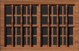 imagen Ventana  3d con materiales aplicados, en Ventanas 3d - Aberturas
