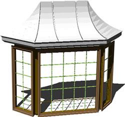 imagen Ventana - bow window, en Ventanas 3d - Aberturas