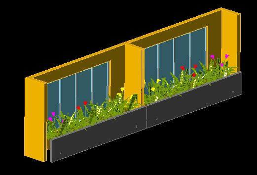 Planos de Ventana con jardinera, en Ventanas – Aberturas