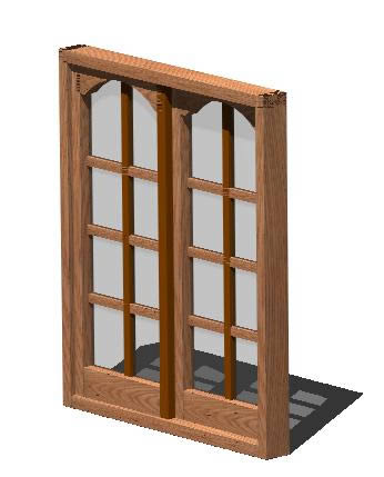 Planos de Ventana corrediza 3d – vidrio repartido, en Ventanas 3d – Aberturas