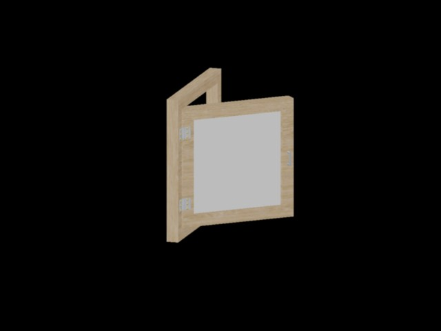 imagen Ventana de madera 3d, en Ventanas 3d - Aberturas