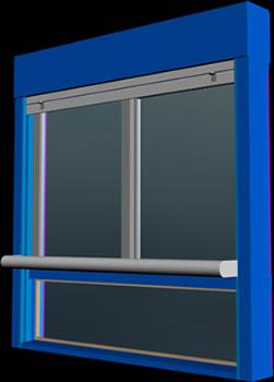 imagen Ventana hojas corredizas y paño fijo para dormitorios, en Ventanas 3d - Aberturas