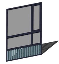 Planos de Ventana mirador 245, en Ventanas 3d – Aberturas