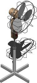 Planos de Ventilador 3d con materiales aplicados, en Electrodomésticos – Muebles equipamiento