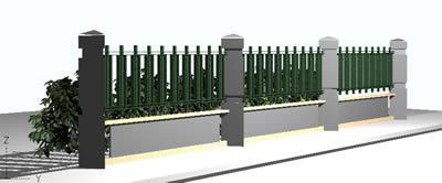 Planos de Verja 3d, en Verjas y vallados – Parques paseos y jardines