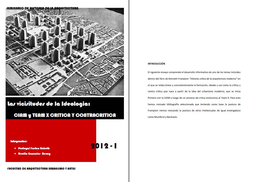 Vicisitudes del ciam – team x, en Monografías – Historia
