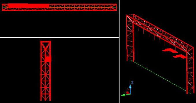 imagen Viga de acero 3d, en Estructuras de acero - Detalles constructivos