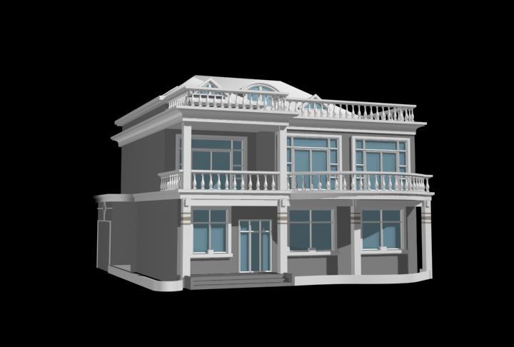 imagen Villa privada 3d, en Vivienda unifamiliar 3d - Proyectos