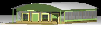 Planos de Vista de empaque 3d, en Galpones – Proyectos