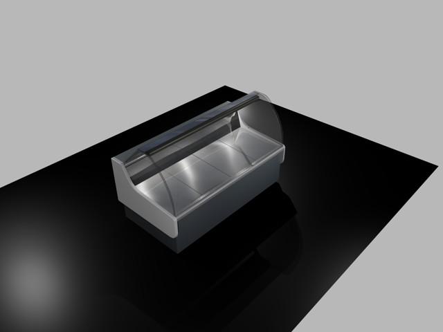 Planos de Vitrina exhibidora refrigerada 3d, en Maquinaria para industria de la alimentación – Máquinas instalaciones