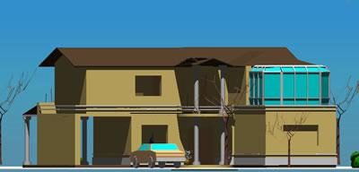 Planos de Vivienda 3d alternativa 01, en Vivienda unifamiliar 3d – Proyectos