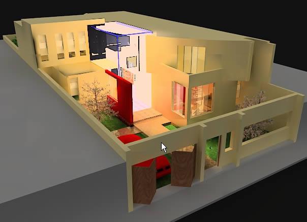Vivienda 3d, en Vivienda unifamiliar 3d – Proyectos