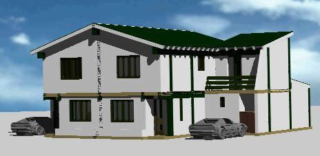 Planos de Vivienda 4hab-3baños en 3d, en Vivienda unifamiliar 3d – Proyectos