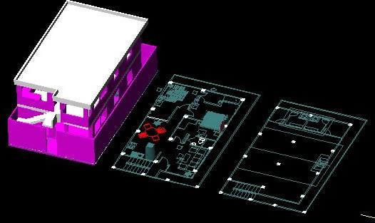 Planos de Vivienda bifamiliar en 3d, en Vivienda unifamiliar 3d – Proyectos