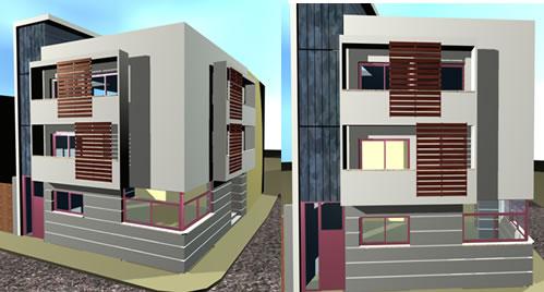 Vivienda de tres niveles 3d, en Vivienda unifamiliar 3d – Proyectos