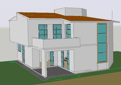 Planos de Vivienda doble altura 3d, en Vivienda unifamiliar 3d – Proyectos